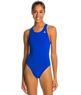 Adidas Women's Infinitex + Solids V Back One Piece Swimsuit