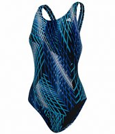 Adidas Women's Linear Subway V Back One Piece Swimsuit