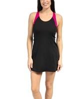 Speedo Contrast Strap Swim Dress