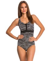 Speedo Ocean Dot Sweetheart Neck One Piece