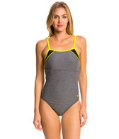 Speedo Heathered Clip Back One Piece