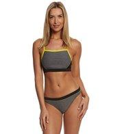 Speedo Heathered Clip Back Two Piece Swimsuit Set