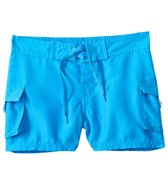 Sunshine Zone Girls' Solid Pocket Boardshort (4yrs-6X)