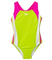Speedo Girls' Solid Infinity Splice One Piece (7yrs-16yrs)