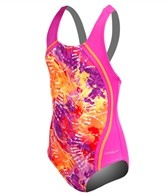 Speedo Girls' Rainforest Tie Dye One Piece (7-16)