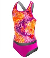 Speedo Girls' Rainforest Tie Dye Tankini Set (7-16)
