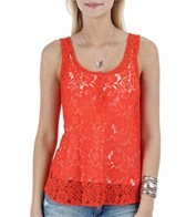 Volcom Women's Not So Classic Lace Tank Top