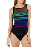 Longitude Technicolor High Neck One Piece