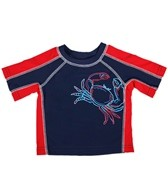 Flapdoodles Boys' Crab S/S Rashguard (12-24mos)