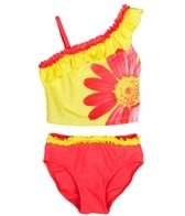 Flapdoodles Girls' Photo Flower Tankini Set (2T-4T)