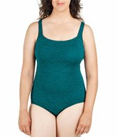 Penbrooke Krinkle Plus Size Active Back One Piece