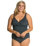 Penbrooke Krinkle Plus Size Cross Over Mio One Piece