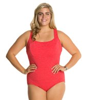 Penbrooke Krinkle Plus Size D-Cup Active Back One Piece
