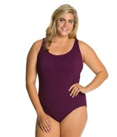 Penbrooke Krinkle Plus Size Cross Back D Cup Mio One Piece
