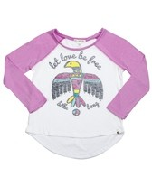 Billabong Billie Girls Over U L/S Baseball Tee (4-16)