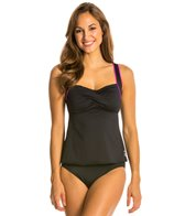 TYR Pink Twisted Bra Tankini Top