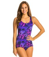 Dolfin AquaShape Conservative Scoop Back Asta Print Lap Suit