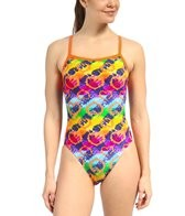 Waterpro Hearts Thin Strap One Piece Swimsuit