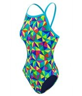 Waterpro Kaleidoscope Thin Strap One Piece Swimsuit