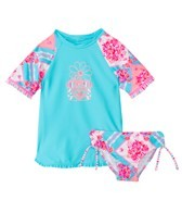Seafolly Girls Liberty Lane Sunvest S/S Rashguard Set (0-7)