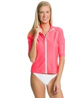 Seafolly Goddess 3/4 Sleeve Zip Rashguard