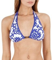 Tommy Bahama Medallion Beaded Halter Top