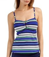 Jag Seaview Stripe Bandeaukini Top