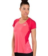 New Balance Women's Boylston Short Sleeve Running Top