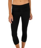 Jala Clothing Asana Gathered Waist Black Capri