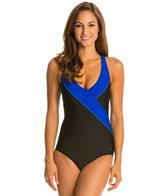 Speedo Colorblock Surplice One Piece