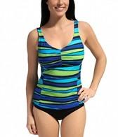 Speedo Woodblock Stripe Comfort Strap Tankini