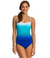 Speedo Dip Dye Keyhole One Piece Swimsuit