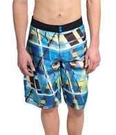 Speedo Men's Modern Stripe Reversible Boardshort