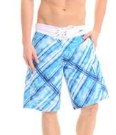 Speedo Men's Watercolor Plaid E-Board Short