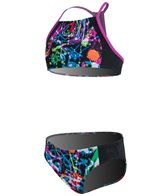 Speedo Girls' Graphic Graffiti Camikini Splice Two Piece (7-16)