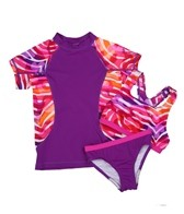 Speedo Girls' Camo Chameleon Rashguard Three Piece Set (7-16)