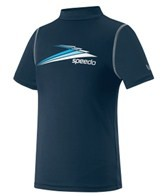 Speedo Boys' Fractal Logo Boom S/S Swim Tee (10-20)
