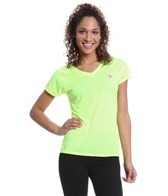 The North Face Women's Run S/S Reaxion AMP V-Neck Tee