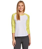 Oiselle Women's Baseball Stripey Run Top