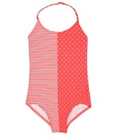 Roxy Girls' Doll Face Dot Triangle One Piece (7-16)