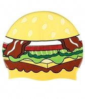 Sporti Hamburger Silicone Swim Cap
