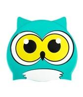 Sporti Cartoon Owl Silicone Swim Cap Jr.