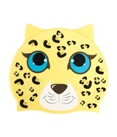 Sporti Cartoon Leopard Silicone Swim Cap Jr.