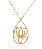 Satya Jewelry Teardrop Lotus Necklace