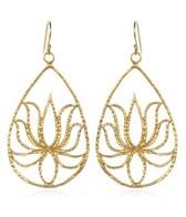 Satya Jewelry Teardrop Lotus Earrings