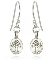 Satya Jewelry Mini Nurturing Earth Tree of Life Earrings