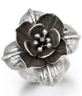 Satya Jewelry Silver Heart of Lotus Ring