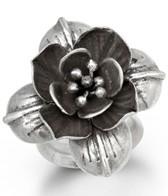 Satya Jewelry Silver Heart of Lotus Ring