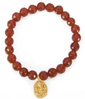Satya Jewelry Lean on Me Carnelian Ganesha Bracelet