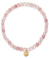 Satya Jewelry Cherry Quartz Heart Bracelet